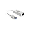 DELOCK USB 3.0 -> Gigabit LAN Fehér (62417) hálózati kártya