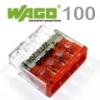 Wago Compact vezeték összekötő, 4 vezeték nyílásos (100 db)