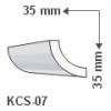 KCS-07 - Polisztirol kábel takaró - sarokba