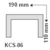 Kábelcsatorna takaró díszléc KCS-06 (190x110 mm)