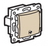 Valena 1 pólusú nyomó csengőjellel (250V~/10AX) elefántcsont villanyszerelés