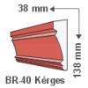 Kültéri díszléc BR-40 - felületkezelt