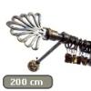 Siero karnis arany-fekete Royal véggel, egysoros, 200 cm