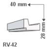 RV-42 - Rejtett világítás díszléc - oldalfal