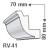 RV-41 - Rejtett világítás díszléc - oldalfal
