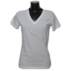 Nike SS SOLID SWOOSH V NECK TEE (411756_0100)