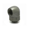 XSPC adapter 90° G1/4coll, forgó - fekete króm