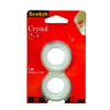 Ragasztószalag 3M SCOTCH Crystal, 19 mm x 7,5 m, 2db/csomag