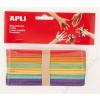 APLI Pálcika, fa, jumbo, APLI Creative, vegyes színek (LCA13269)
