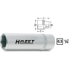 Hazet Dugókulcsfej 9 mm, 6,3 mm (1/4), Hazet 850LG-9