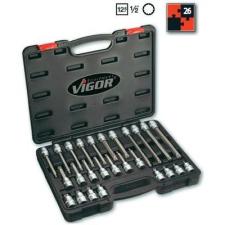 Vigor Belső sokszögű kulcs készlet 12,5 mm ((1/2), 26 részes, Vigor V1918 dugókulcs