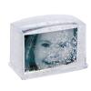 Dörr téglatest alakú hógömb, hóval és csillámmal