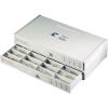 12 részes fiókos alkatrésztároló doboz, szürke, 265 x 138 x 32,5 mm