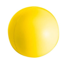 Stresszlevezető labda, sárga fitness labda