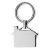 Kulcstartó, ház formájú, fém, ezüst