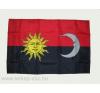 Székely harci zászló, hurkolt poliészter, nyomott mintás kültéri zászló. 60x90 cm dekoráció