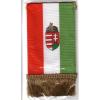 4 szögletű címeres zsinóros zászló 7x13 cm