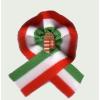 Egyszerű címeres kokárda (5x5 cm), 15 mm-es jelvénnyel