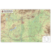 Magyarország domborzata és vizei 123x89 cm Ívben, fóliázva lécezve