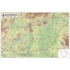 Magyarország domborzata és vizei 123x89 cm Ívben, fóliázva lécezve ajándéktárgy
