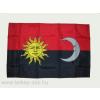 Székely harci zászló, hurkolt poliészter nyomott mintás kültéri zászló. 40x60 cm