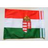 Kétoldalas nemzeti színű címeres zászló hajóra tépőzárral (30X40 cm)