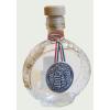 Boros üvegkulacs ón Kossuth címerrel 9X3X13 cm