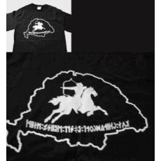 Bulcsú nyomott mintás fekete póló S