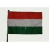 Nemzeti színű zászló rúddal (45x28 cm)