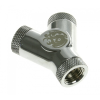 Bitspower Y-Adapter 3 x G1/4 - fényes ezüst