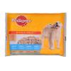 Pedigree Junior alutasakos kutyaeledel 4x100 g csirke- és pulykahússal