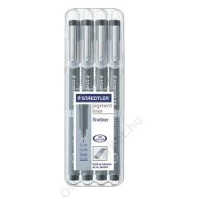 STAEDTLER Tűfilc készlet, STAEDTLER Pigment Liner, fekete (TS308WP4) filctoll, marker