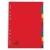 5 Star Regiszter, karton, A4, 12 részes, 5 STAR, színes