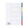 5 Star Regiszter, műanyag, A4, 5 részes, 5 STAR, színes