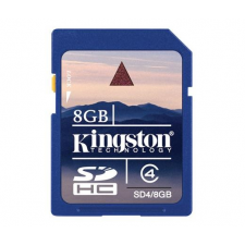 Kingston SD CARD 8GB KINGSTON CL4 memóriakártya