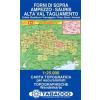 Forni di Sopra, Ampezzo, Sŕuris, Alta Val Tagliamento térkép - 02 Tabacco