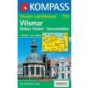 WK 734 - Wismar - Klützer Winkel turistatérkép - KOMPASS