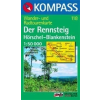 WK 118 - Der Rennsteig Hörschei - Blanken turistatérkép - KOMPASS
