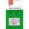 Allgäuer- Lechtaler Alpen, West turistatérkép - Alpenvereinskarte 2/1