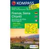 WK 2458 - Firenze - Siena - Chianti turistatérkép - KOMPASS