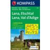 WK 054 - Lana, Etschtal turistatérkép - KOMPASS