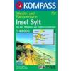WK 701 - Insel Sylt mit Ortsplänen turistatérkép - KOMPASS
