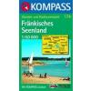 WK 174 - Fränkisches Seenland turistatérkép - KOMPASS