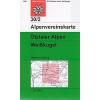 Ötztaler Alpen, Weisskugel turistatérkép - Alpenvereinskarte 30/2