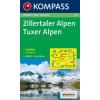 WK 37 - Zillertaler Alpen - Tuxer Alpen turistatérkép - KOMPASS