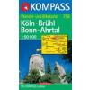 WK 758 - Köln - Brühl - Bonn - Ahrtal turistatérkép - KOMPASS