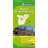 Madrid környéke térkép - Michelin 121