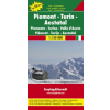 Piemont - Torino - Aosta-völgy Top 10 Tipp autótérkép - f&b AK 0619