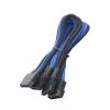 Bitfenix Molex > 3x Molex elosztó 55cm fek/kék/fek