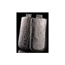 Telone Special Croco álló kihúzhatós bőrtok Nokia E52, Asha 206 méretű ezüst* tok és táska
